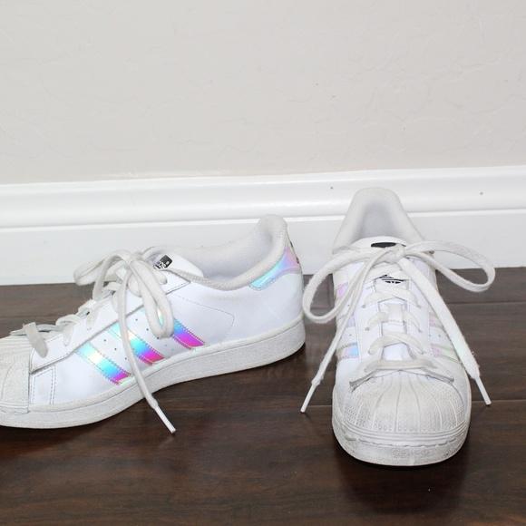 Holographic Stripes Adidas Superstars